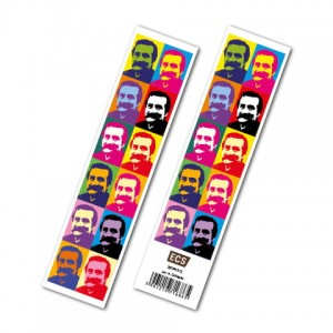 BOOKMARK MAN WITH MUSTACHE